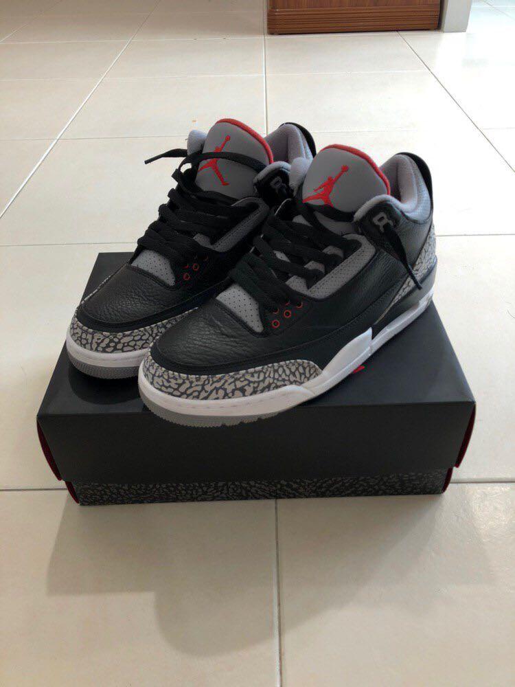16164c3f33b1 Air Jordan 3 Black Cement