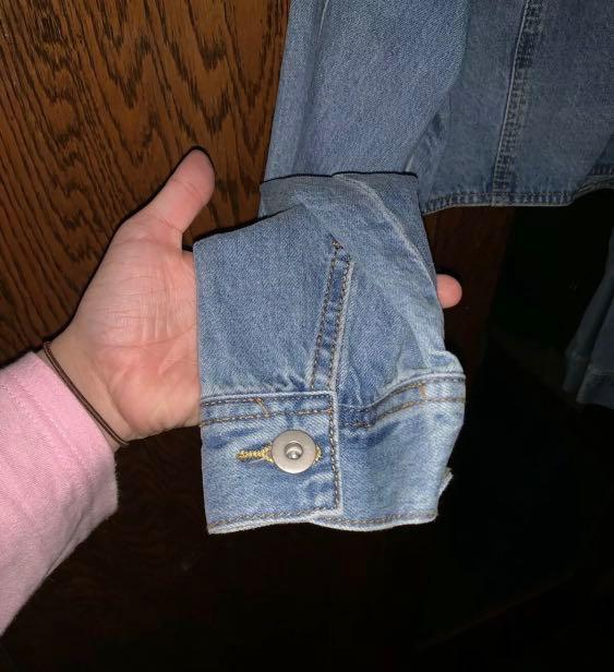 Ally Fashion Denim Jacket Oversized Cropped size 14