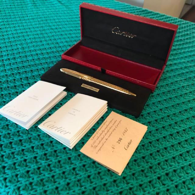 Authentic Gold Cartier  Pen