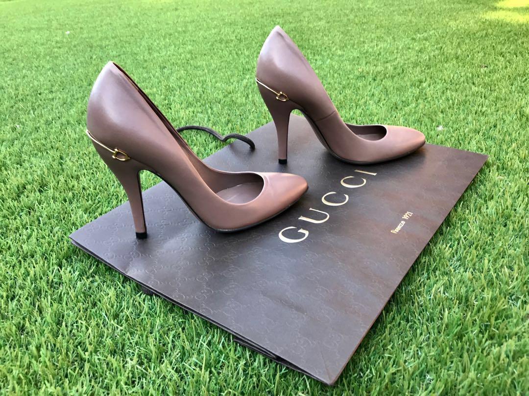 Authentic Gucci Horsebit leather pumps - size 36.5 EUR