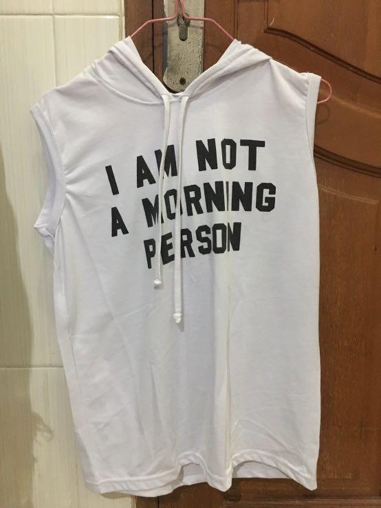 baju tanpa lengan hoodie