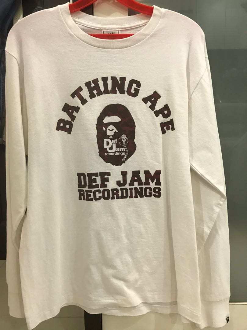 b49c6a16 Bathing ape x Def Jam Recordings, Women's Fashion, Clothes, Tops on ...