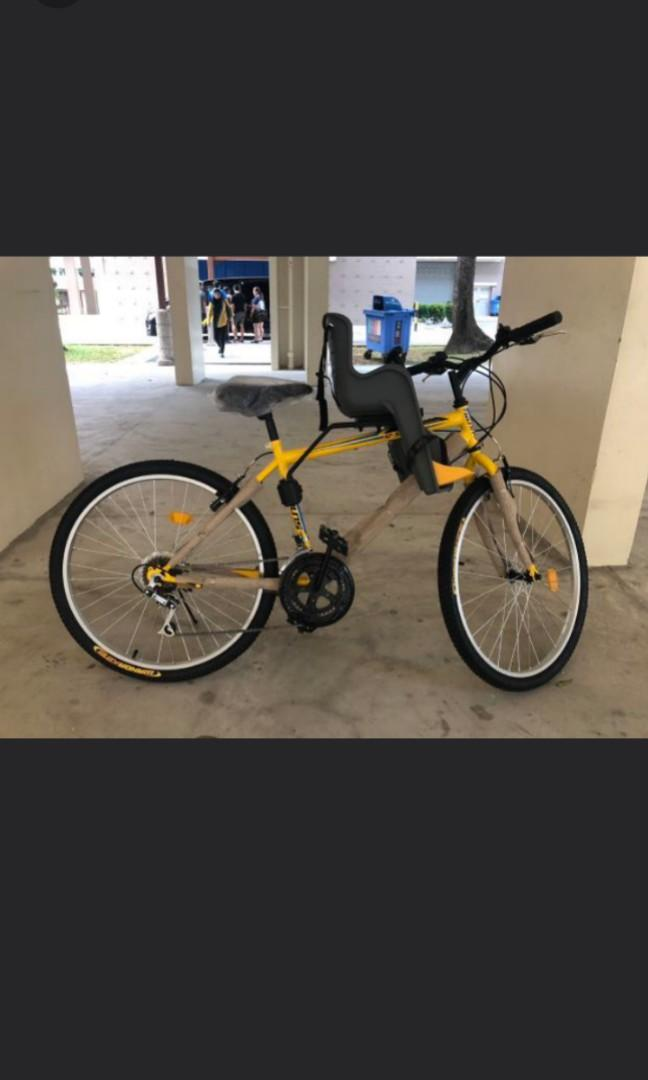 Best seller!!! Adult 26inch multi-gear bicycle with baby seats !!! Free delivery !!!