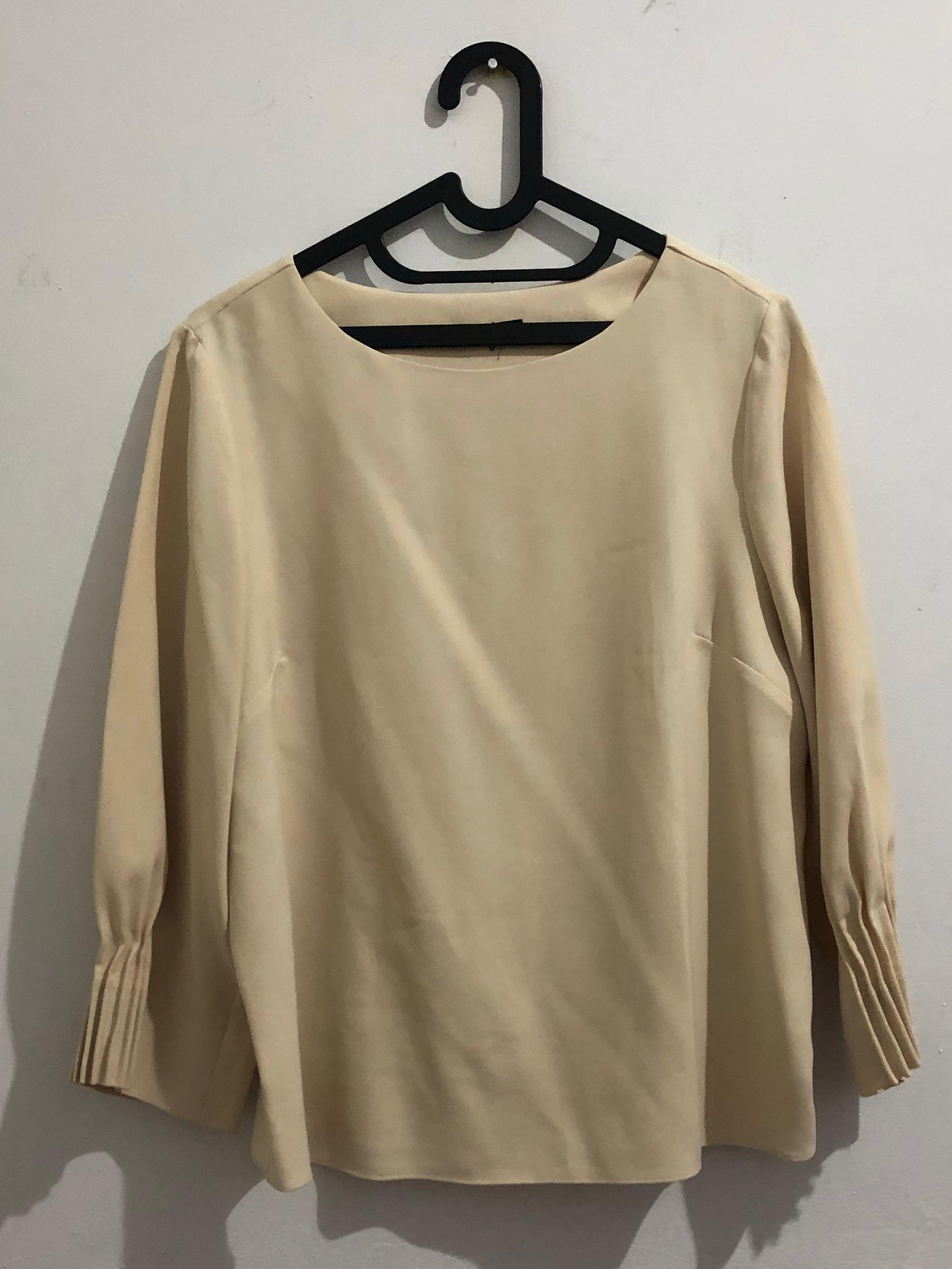 Blouse nude / beige / off white / creme