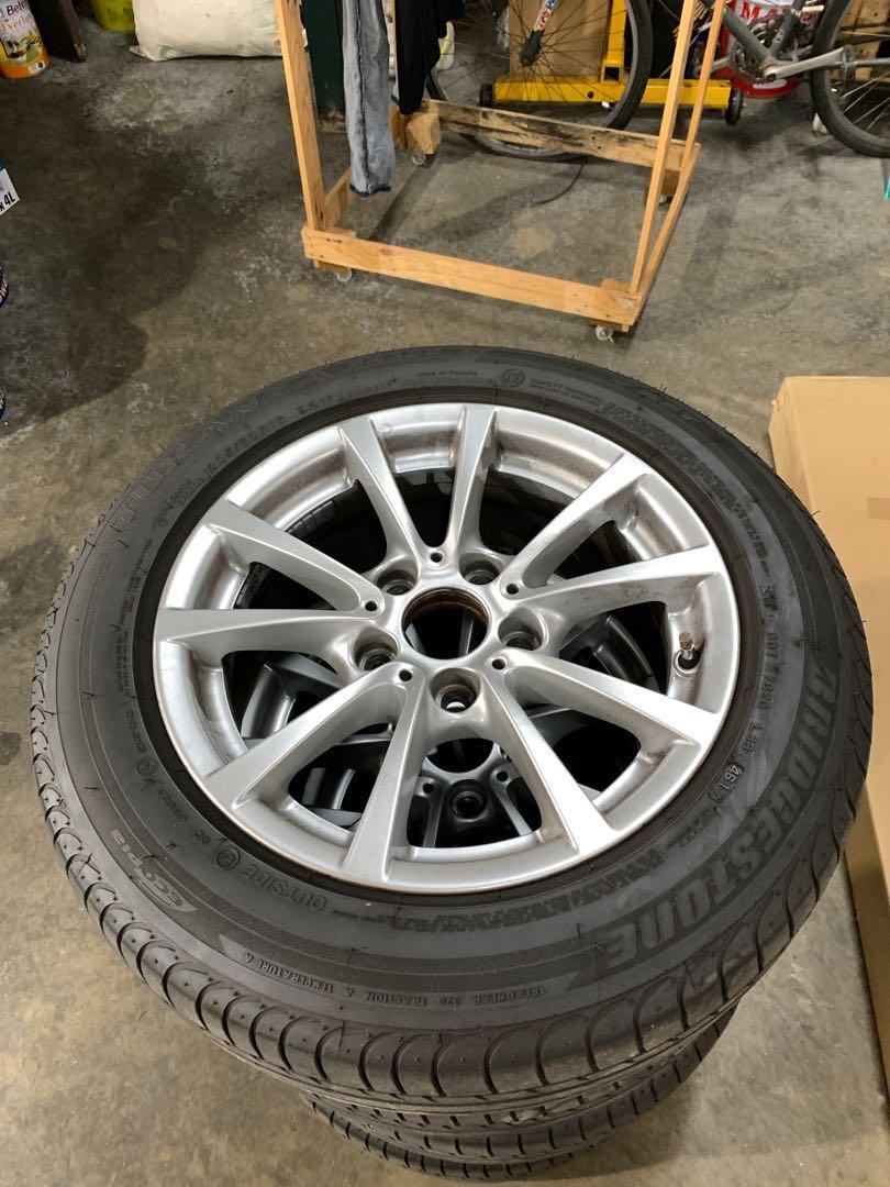 Bmw 3 series original rims and RTF tyres, Car Accessories