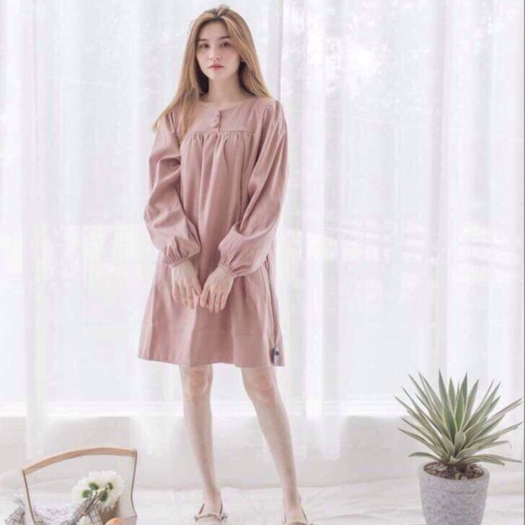 05d78f89bf9 Dusty Rose Chiffon Maxi Dress - Gomes Weine AG
