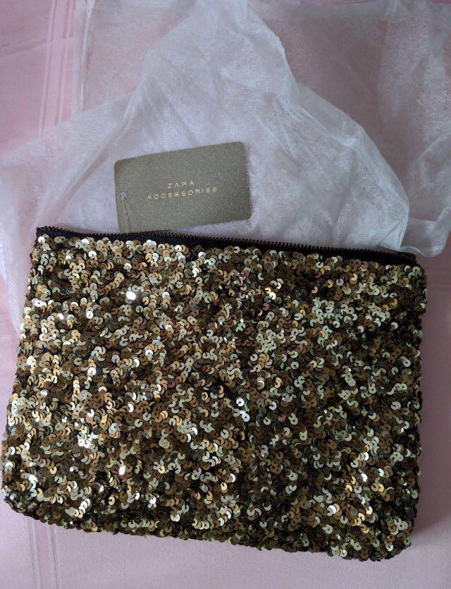 BN Zara golden sequin Clutch #EndgameYourExcess