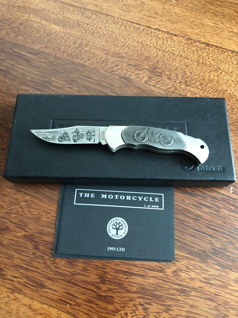 """BOKER """"THE MOTORCYCLE"""" HARLEY DAVIDSON KNIFE - LIMITED EDITION 6377/9999"""