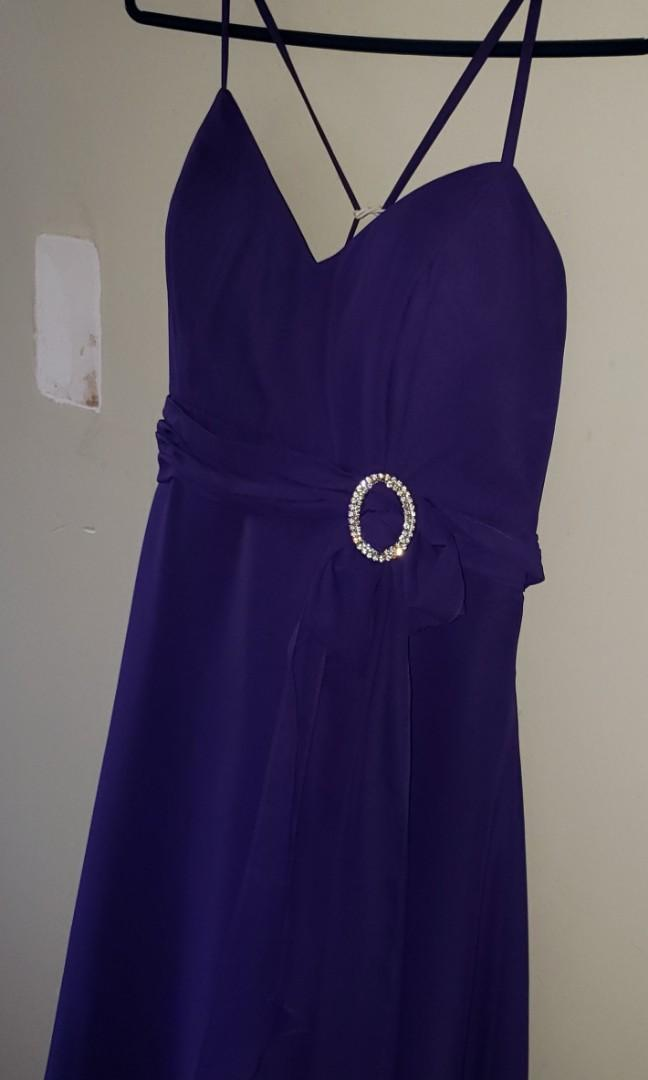 BRAND NEW WITH TAGS- GORGEOUS Amethyst Colored Dress/Gown