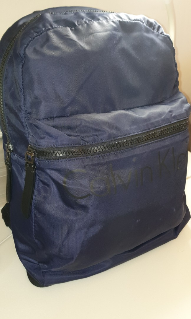 f859df05add Calvin klein jeans Men Bags ,Calvin klein jeans chase campus backpack blue,  with receipt from Isetan Scotts, Luxury, Bags & Wallets, Backpacks on  Carousell