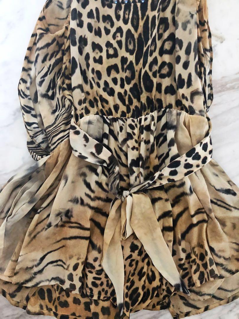 Camilla leopard animal print playsuit size 1