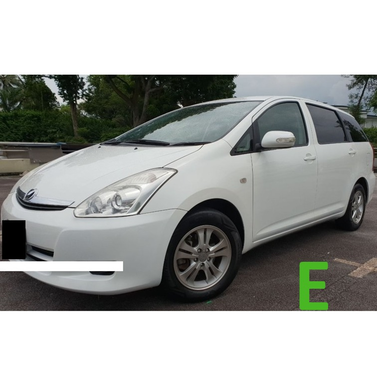Car Rental 7 Seater For Grab Toyota Wish 1 8a Cars Vehicle Rentals