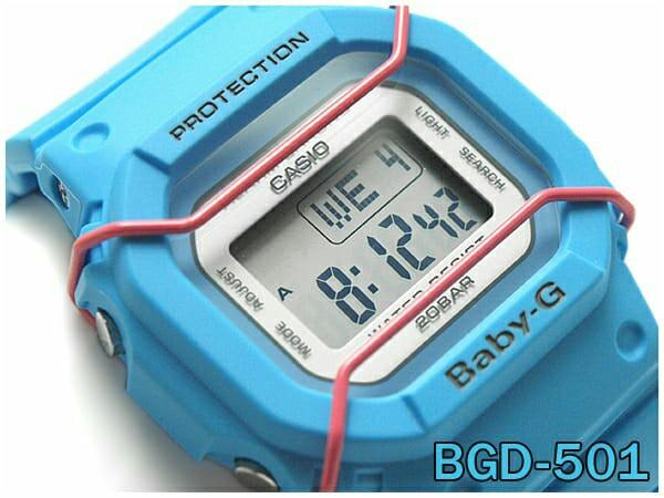 CASIO BABY-G BGD-501-2 20th Anniversary Face Protector 200M Watch  BGD501