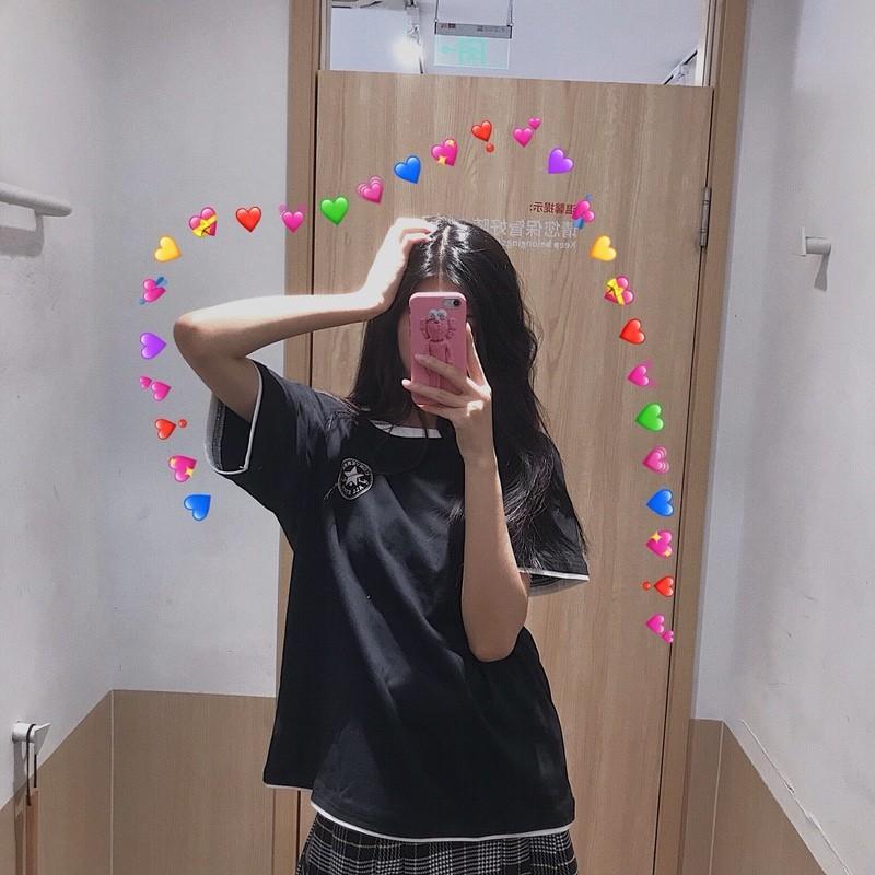 匡威Converse 反光T恤 黑色 白色
