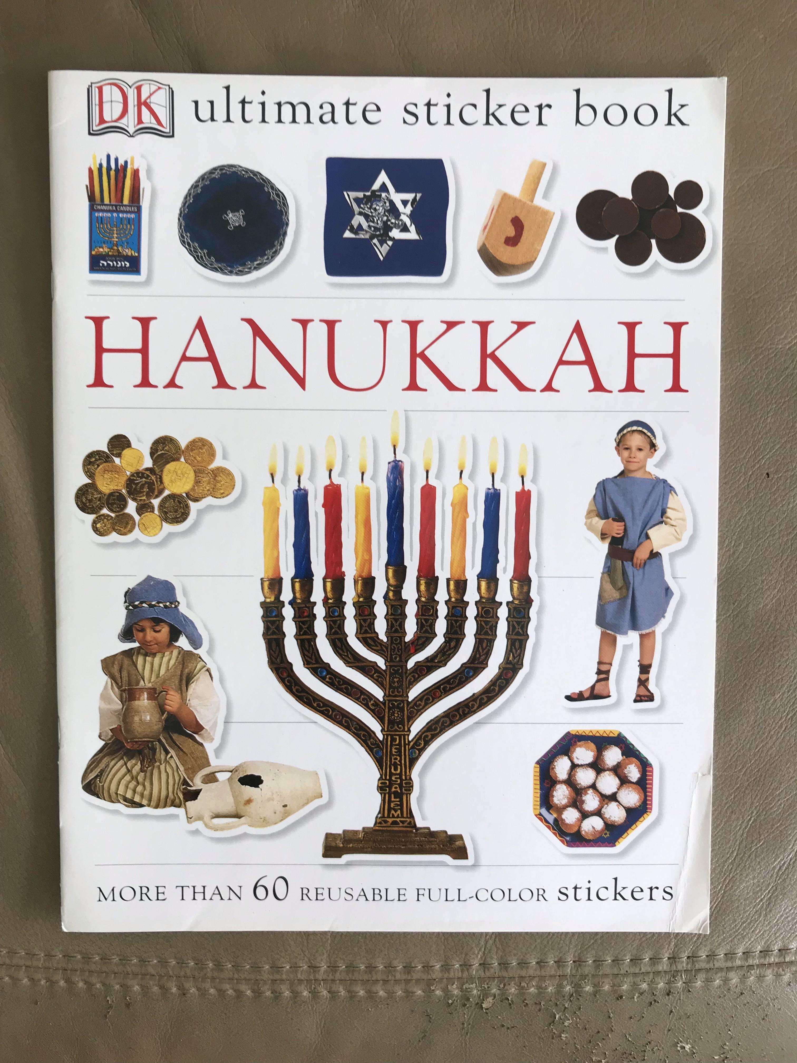 Hanukkah More Than 60 Reusable Full-Color Stickers Ultimate Sticker Book