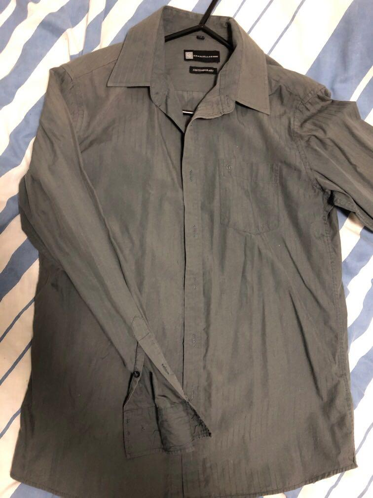 Green medium chancellor collared shirt