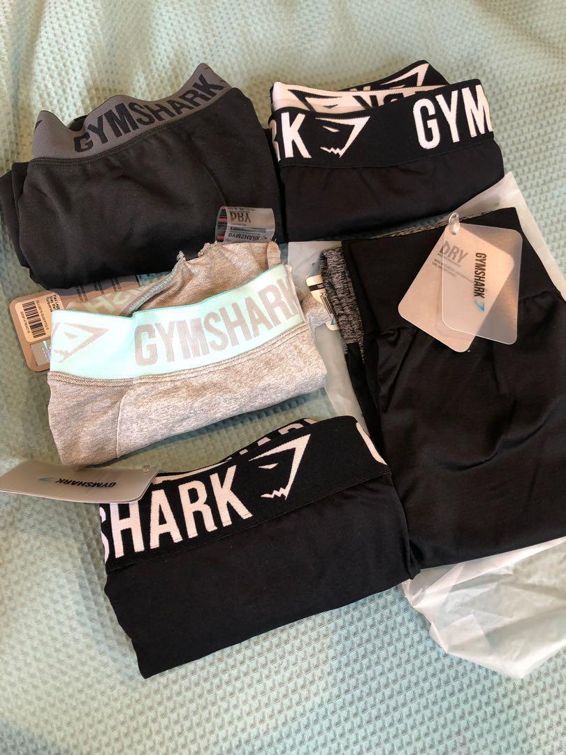 Gymshark TwoTone Seamless Leggings Black/Black Marl SMALL