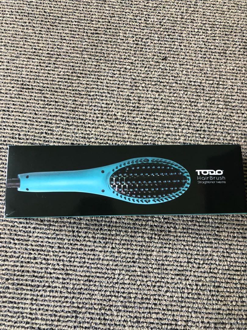 Hair straightening brush