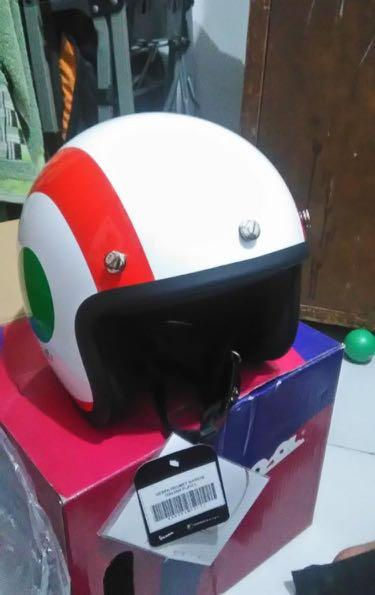 Helm vespa original italian flag