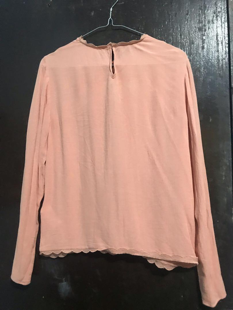 H&M Pink Bohemian Top