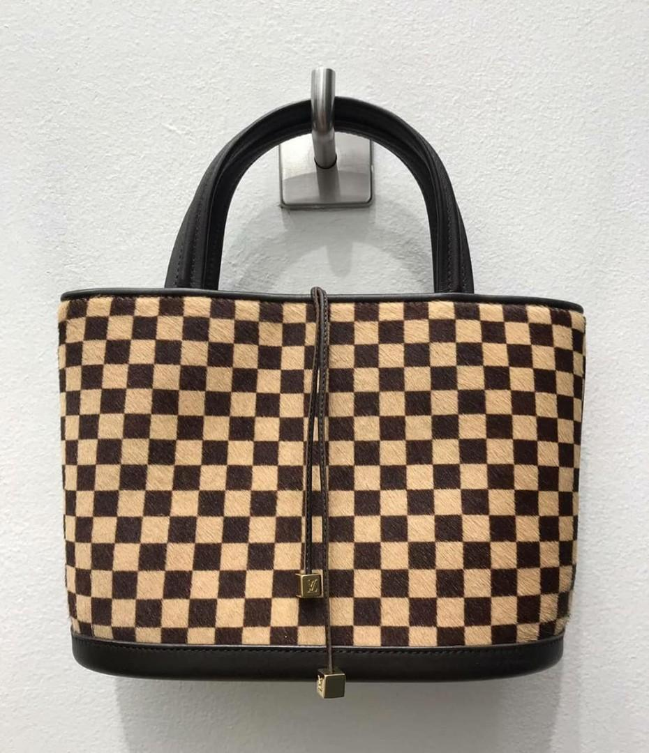 Like New Limited Edition LV Damier Sauvage Mini Tote with Pony Hair exterior and Suede as interior  Bag Only