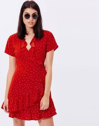 Little red dress with spots
