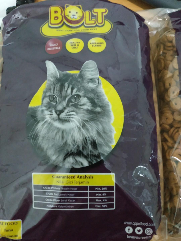Makanan Kucing Makanan Hewan Peliharaan Bolt Tuna Pet Supplies