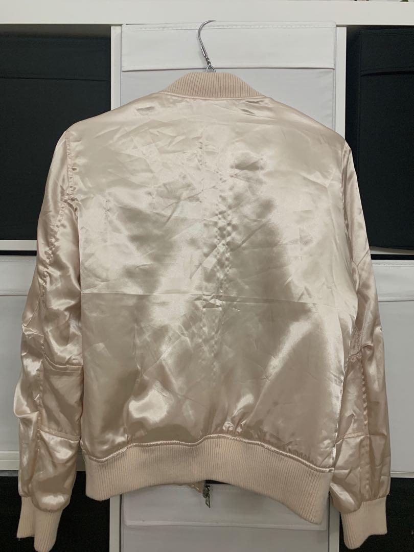 Metallic Blush Bomber Jacket