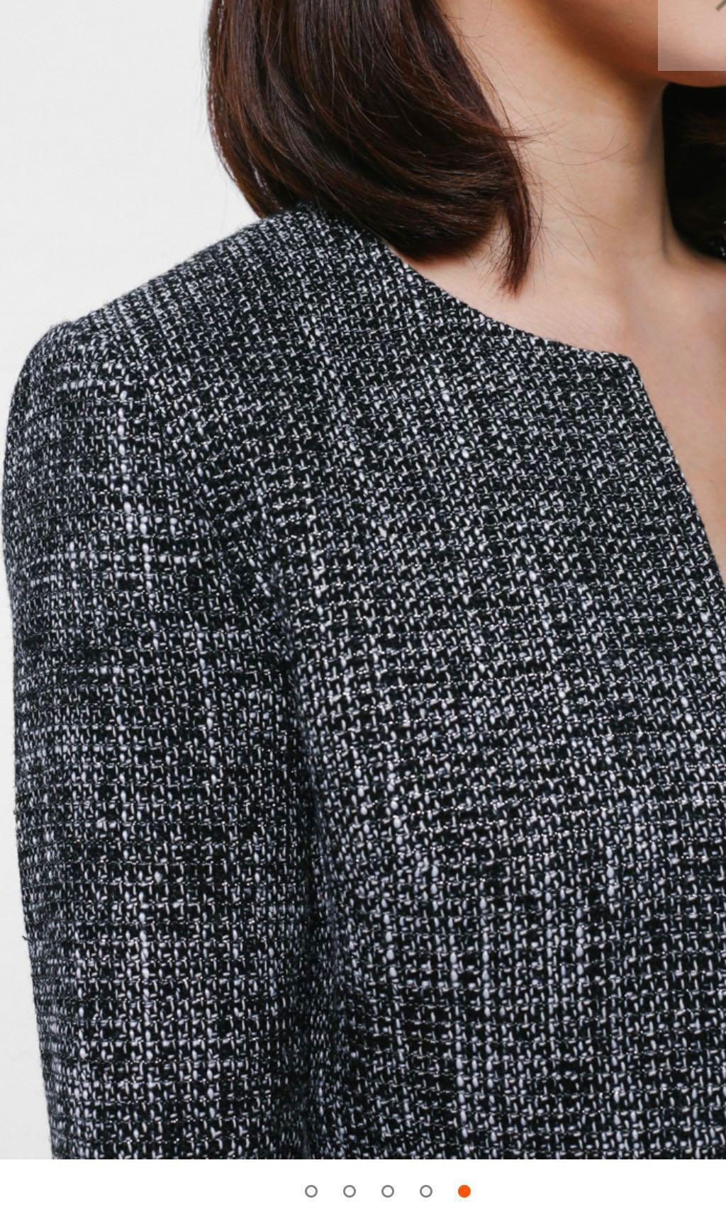 [New With Tag] Love, Bonito Juditha Ruffled Peplum Tweed Jacket