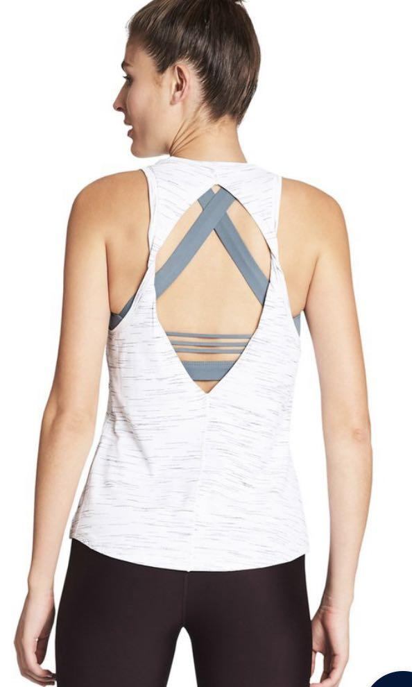 Nimble activewear gym top tank white and grey size 6-10