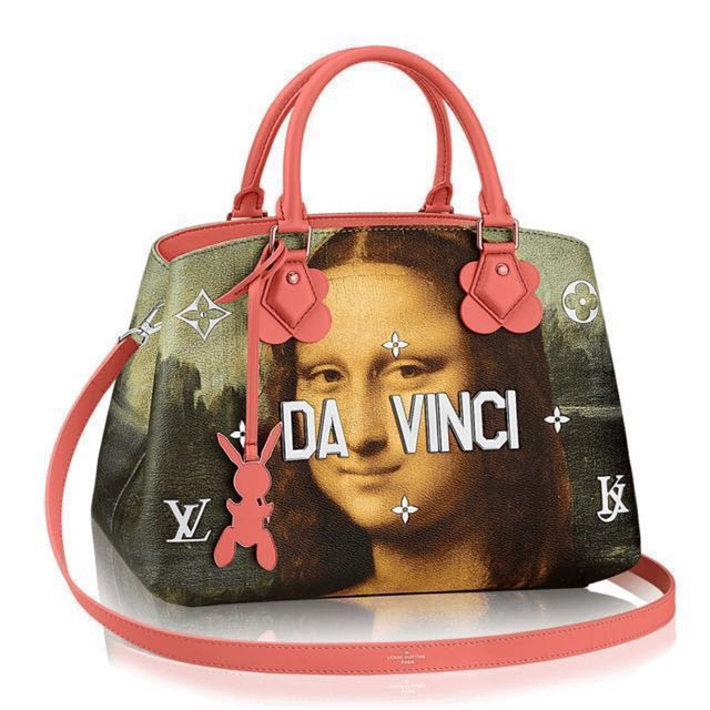 2b2812685bf8 💖ONLY DEAL💖Auth LV Jeff Koons DaVinci Monalisa Montaigne MM pink ...