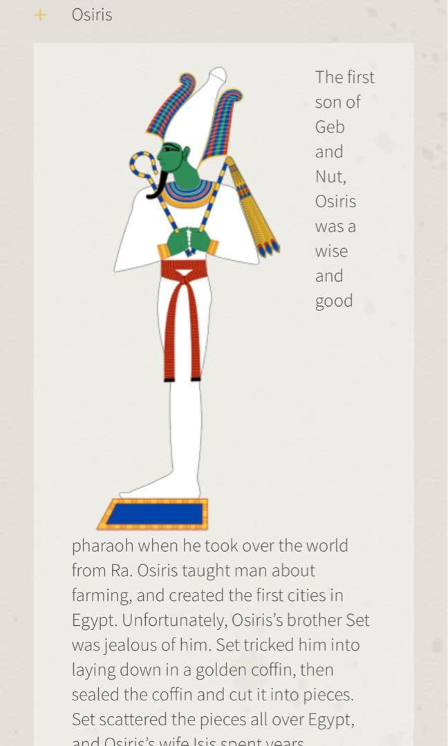 Osiris (God of the underworld in Egyptian history)
