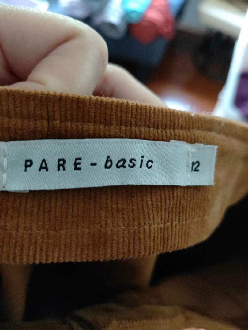 pare basic skirt winter material