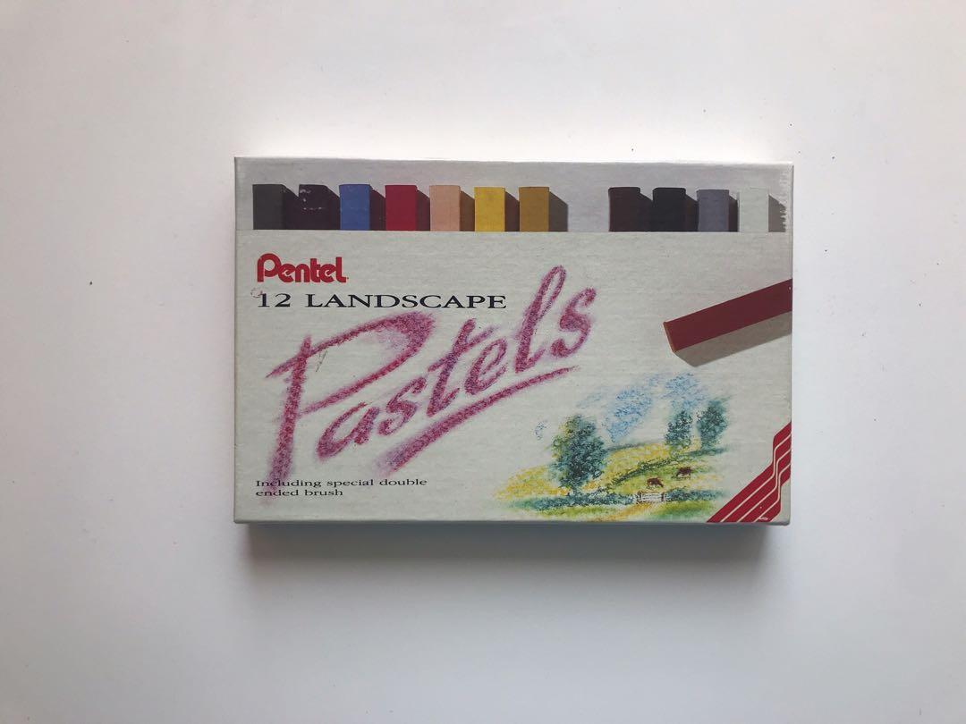 Pentel 12 Landscape Chalk Pastels   12色乾粉筆