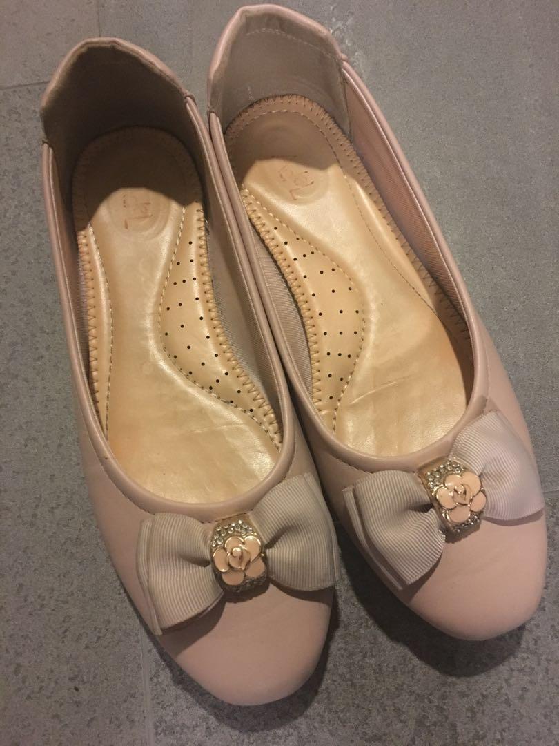 Pink Bow Flats / Pink Flats / Pink Pumps / Pink Shoes