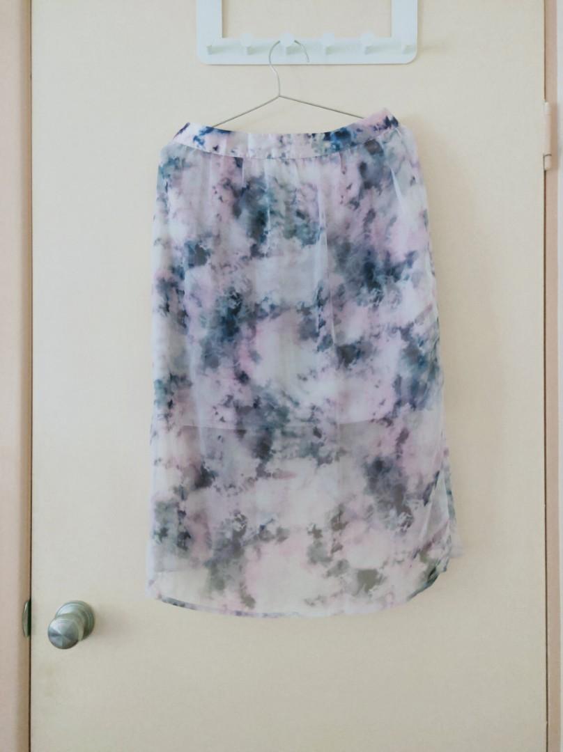 pink purple skirt flower