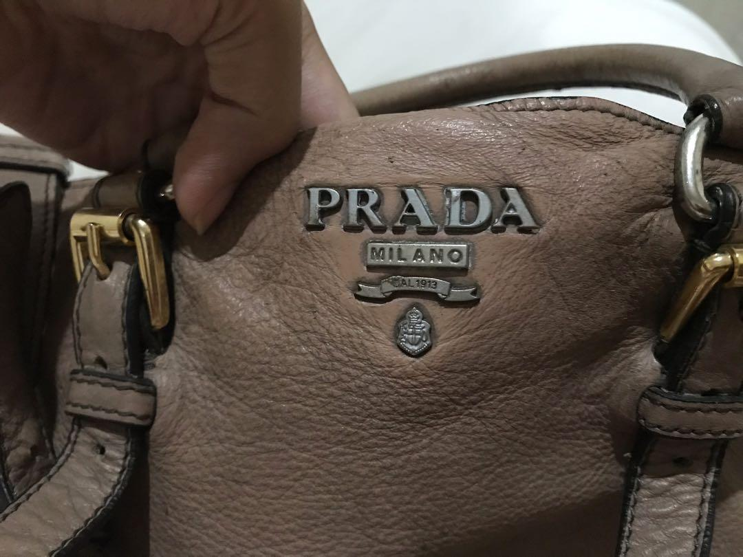 Prada full leather bag mirror