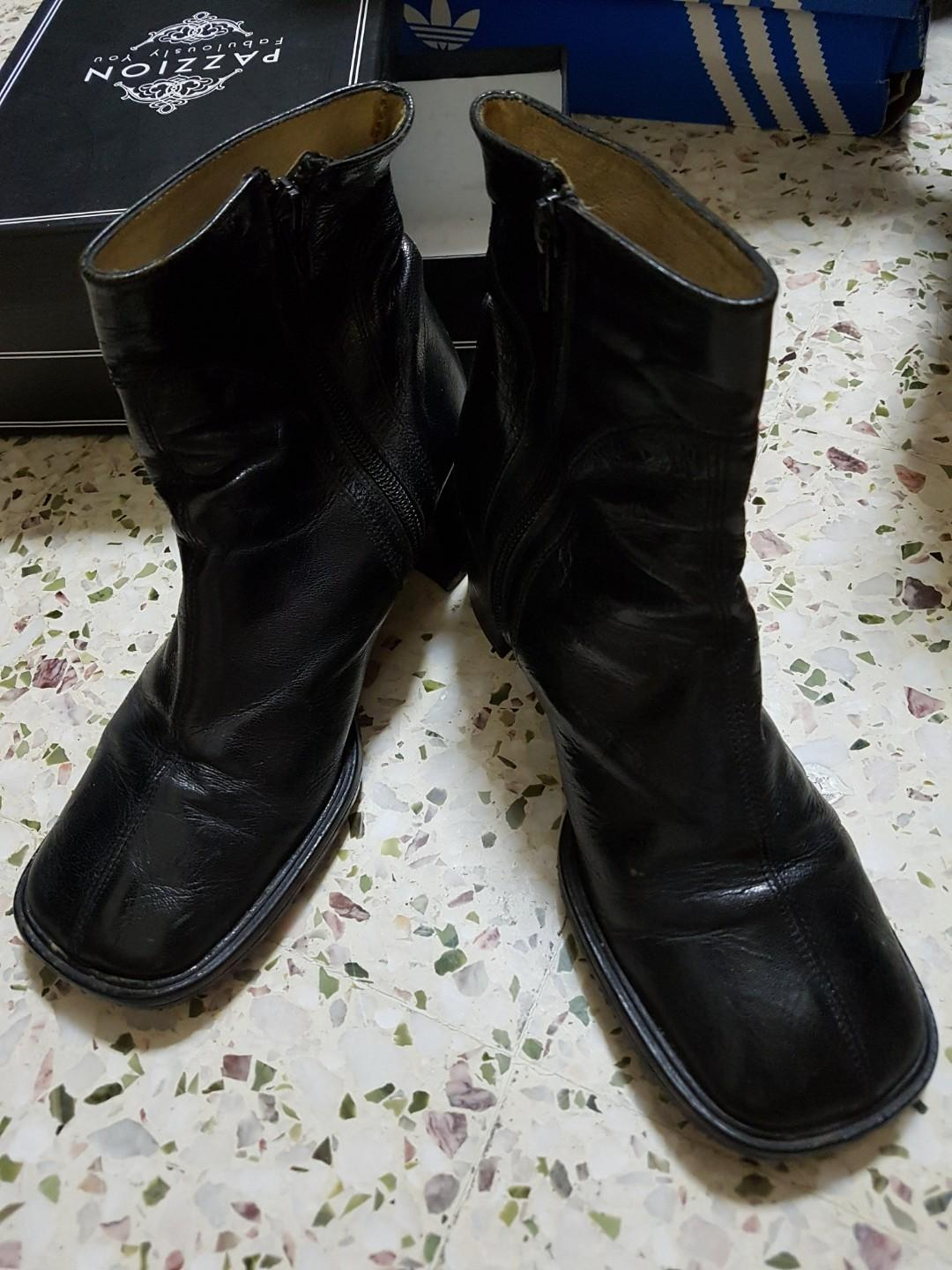 Preloved leather Black Boots SIZE 37