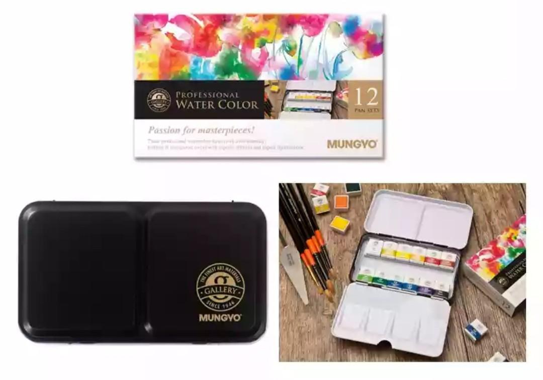 Out of Stock: Mungyo 12col Professional Half Pan Watercolour Cake (Passion for Masterpieces)