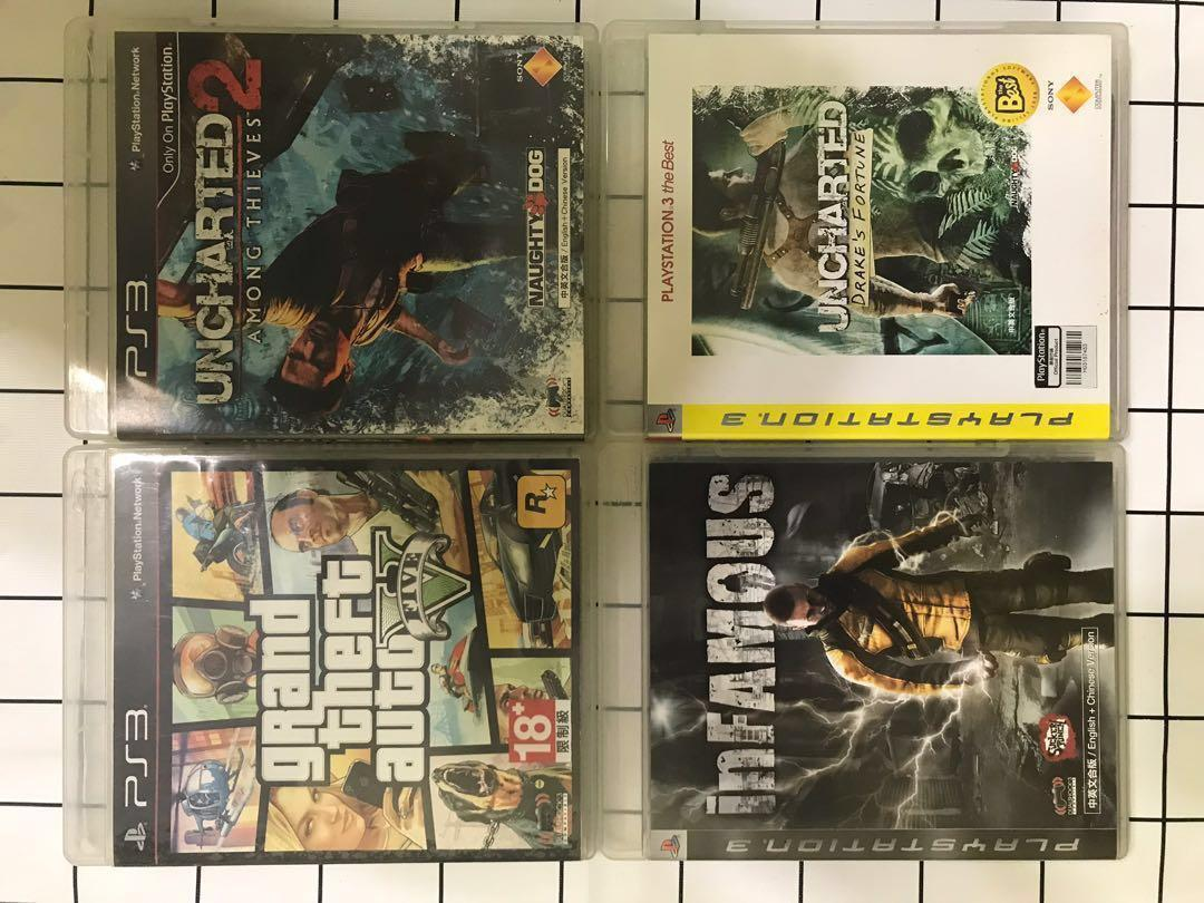 PS3主機+正版遊戲光碟7片