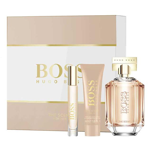 hugo boss the scent for her set