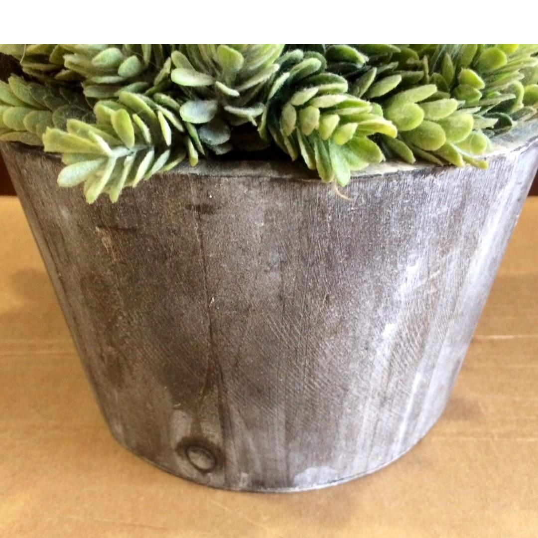 30 CM Tall! COUNTRY-STYLE Artificial Plants In Wooden Pot