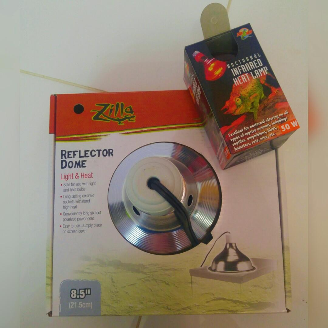 Reptile Pack - Reflector Dome with Halogen Bulb & Infrared Light