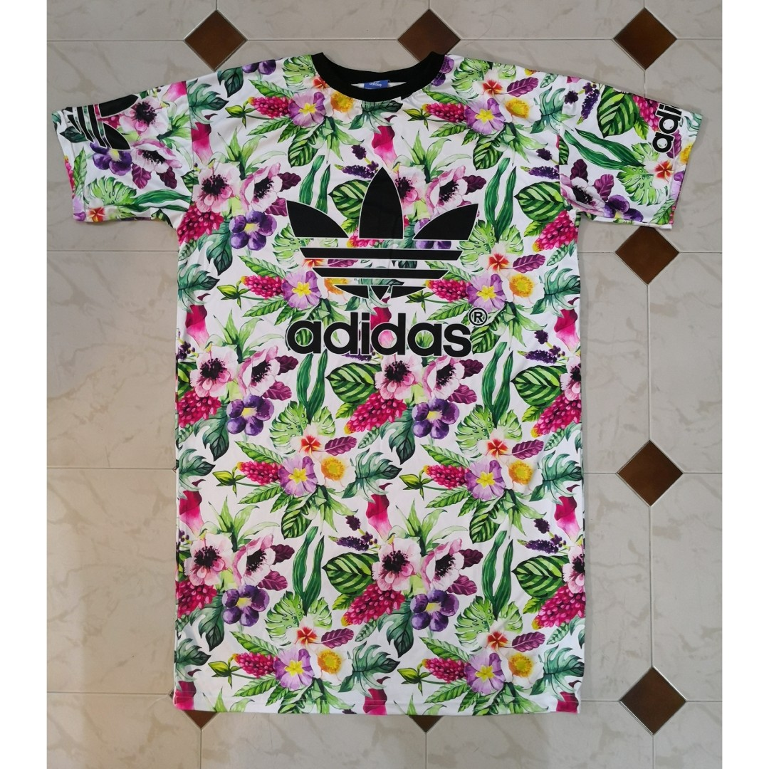 58fe8610 SALES) Plus Size Oversize Floral Hawaii Inspired Brand Dri-fit Shirt ...