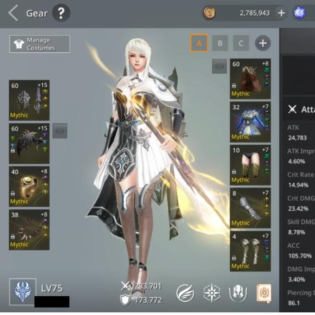 Selling away TOP AxE: Alliance vs Empire Mobile Game account 407K CP level75 TOP 4 SERVER TOP 1 VALKYRIE