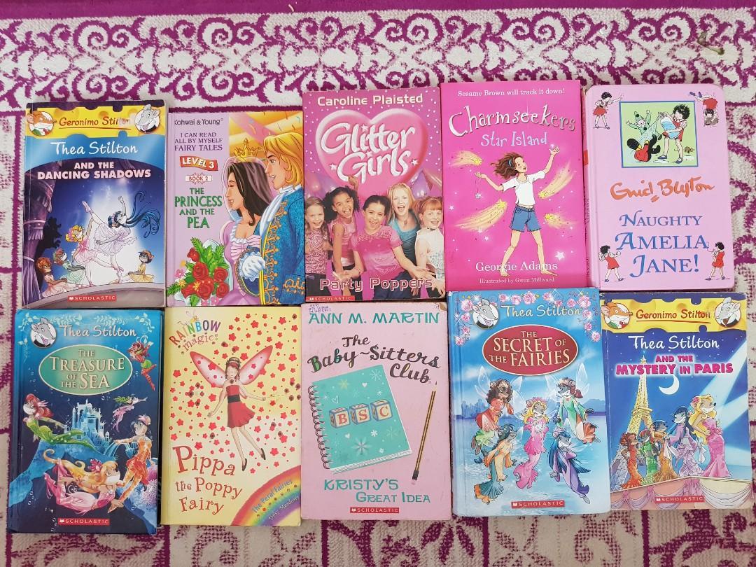 Set of 10 Girls Story Books (Thea Stilton / Enid Blyton etc)