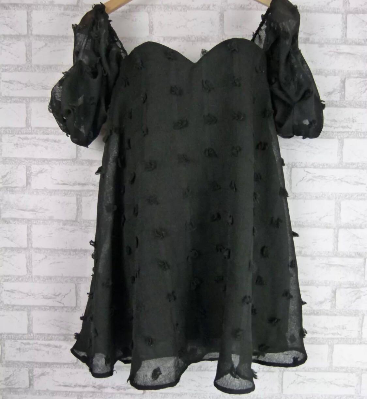 Sheike Black Off Shoulder Mini Dress