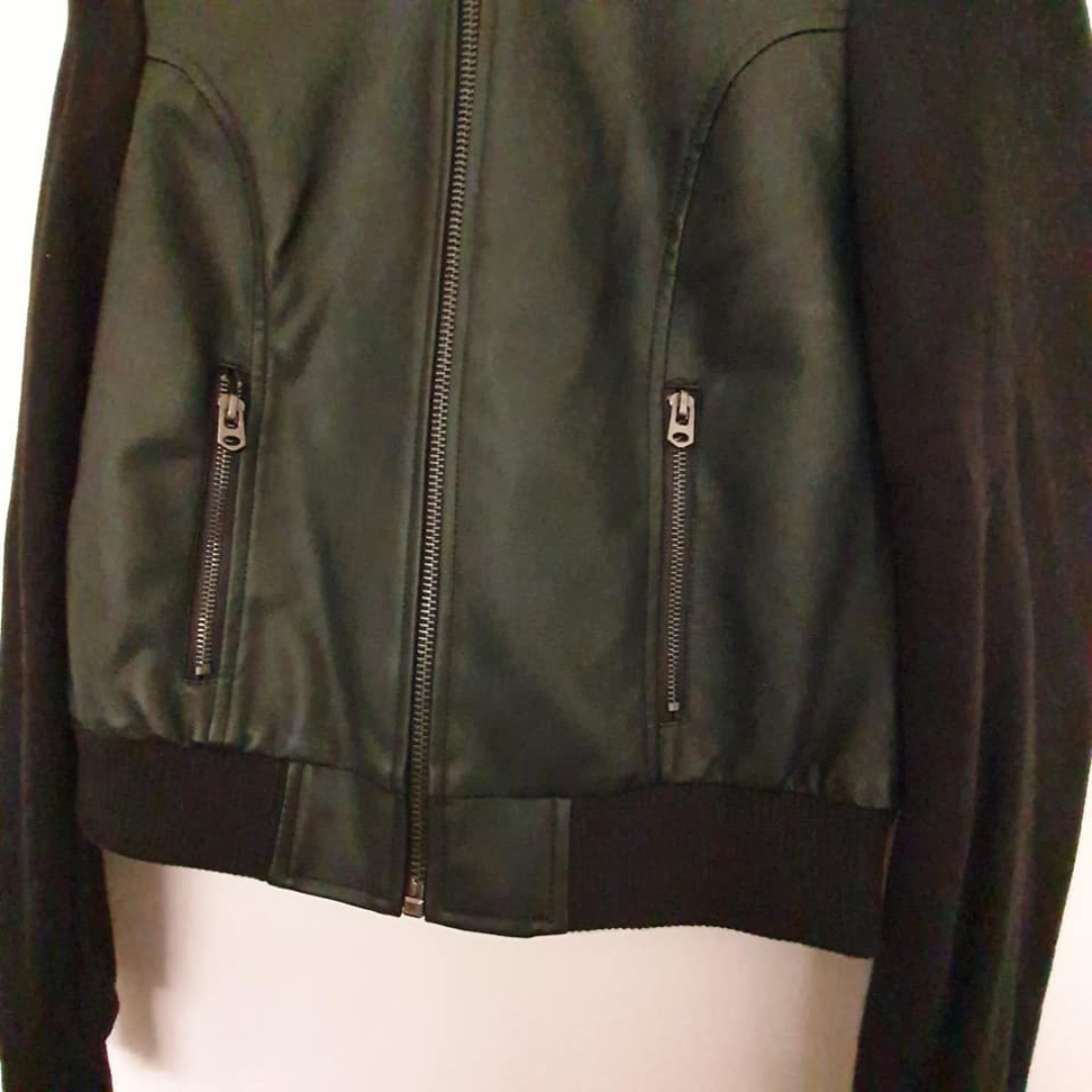 Size 8 ladies New with tags Girl Xpress PU leather bomber jacket RRP$29.00