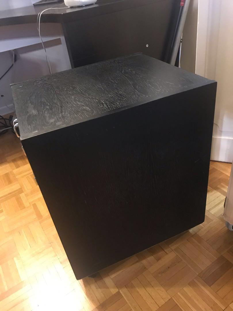 SOLID WOOD FILE STORAGE CABINET WITH 2 DRAWERS MOVING SALE