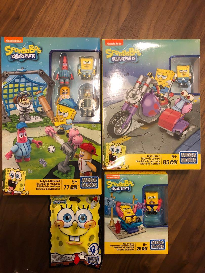 Spongebob squarepants mega bloks, Toys & Games, Bricks